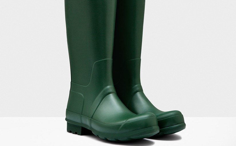 Hunter Green Wellington Boots