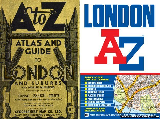 London A-Z street atlas – The Knowledge