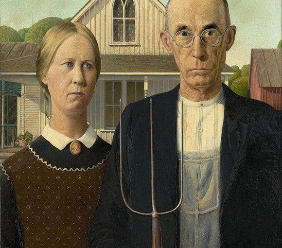 "Grant Wood – ""American Gothic"""