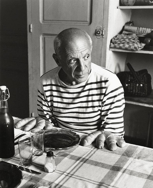 "Robert Doisneau – ""Picasso and The Loaves"" (1952)"