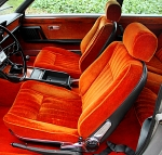 Fiat 130 coupe-interior