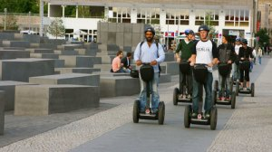 Segways in a swarm