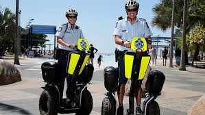 Segways police officers