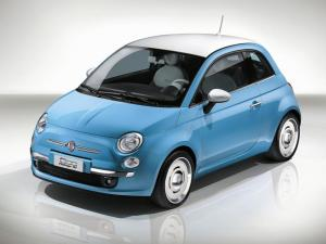 new Fiat 500 blue