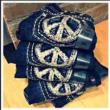 Peace Sign Jeans